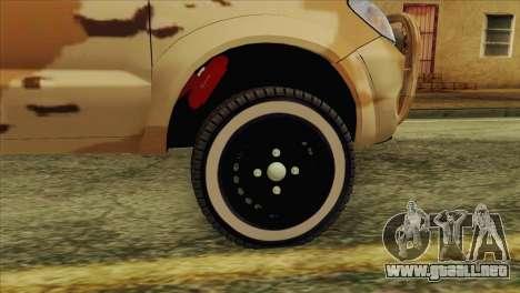 Toyota Hilux Siria Rebels without flag para la visión correcta GTA San Andreas