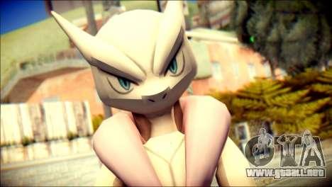 Mega Mewtwo X para GTA San Andreas tercera pantalla