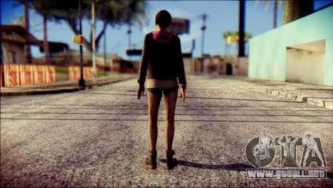 Moira Burton from Resident Evil para GTA San Andreas segunda pantalla