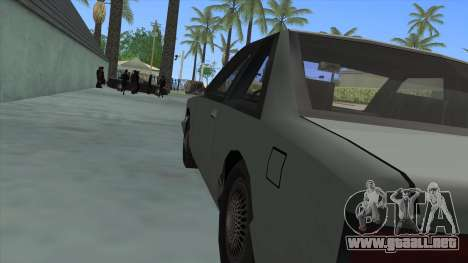 Premier Coupe para GTA San Andreas vista hacia atrás