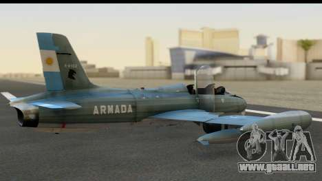 Aermacchi MB-326 ARM para GTA San Andreas left