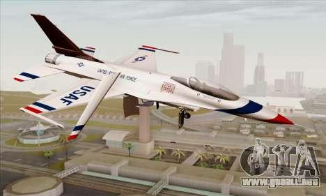 F-16C USAF Thunderbirds para GTA San Andreas