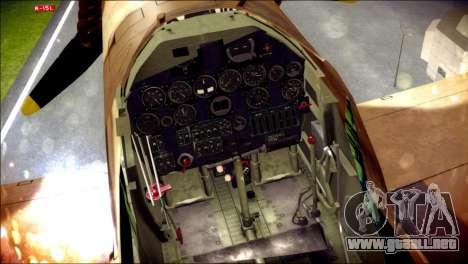 P-40E 325th Fighter Group para la visión correcta GTA San Andreas