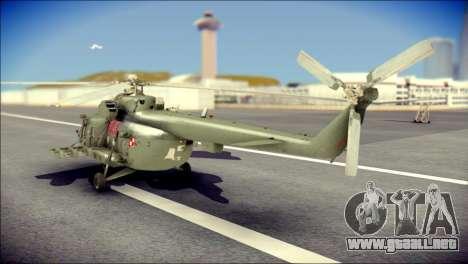 Mil Mi-8 Polish Air Force EUFOR para GTA San Andreas left
