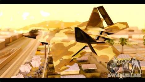 F-22 Raptor Desert Camouflage para GTA San Andreas left