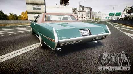 Albany Manana GTA V Style para GTA 4 Vista posterior izquierda