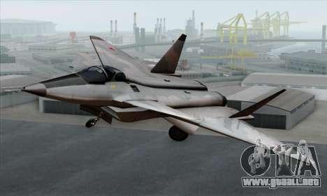 MIG 1.44 Flatpack Russian Air Force para GTA San Andreas vista hacia atrás