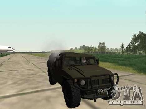 GAZ 2330 Frente para GTA San Andreas vista hacia atrás