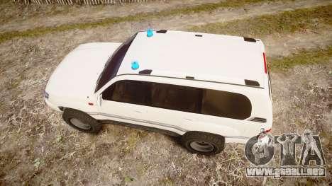 Toyota Land Cruiser 100 UEP [ELS] para GTA 4 visión correcta