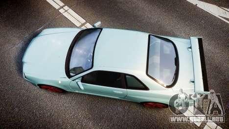 Nissan Skyline R34 GT-R M-Spec Nur para GTA 4 visión correcta