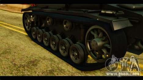 StuG III Ausf. G Girls und Panzer para GTA San Andreas vista hacia atrás