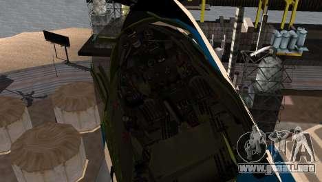 P-39N Airacobra JASDF Blue Impulse para la visión correcta GTA San Andreas