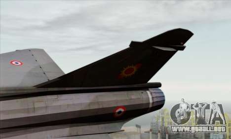 Dassault Mirage 2000-N SAM para GTA San Andreas vista posterior izquierda