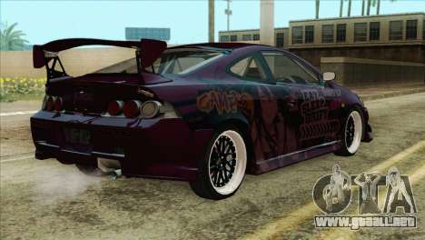 Acura RSX Hinata Itasha para GTA San Andreas left