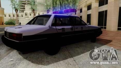 Karin Primo Police para GTA San Andreas vista hacia atrás