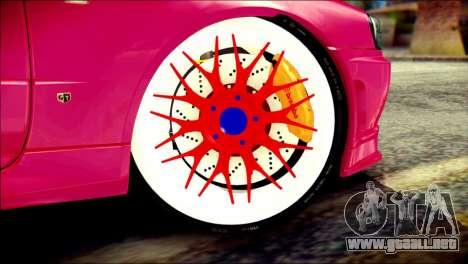 Nissan Skyline GTR V Spec II para GTA San Andreas vista posterior izquierda