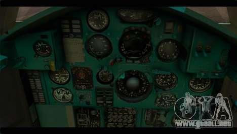 MIG-31 Soviet para GTA San Andreas vista hacia atrás