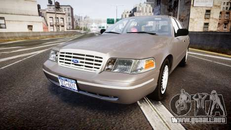 Ford Crown Victoria NYPD Unmarked [ELS] Old para GTA 4