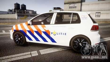 Volkswagen Golf Mk6 Dutch Police [ELS] para GTA 4 left