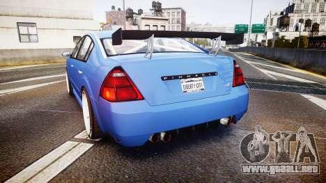 Annis Pinnacle RT para GTA 4 Vista posterior izquierda