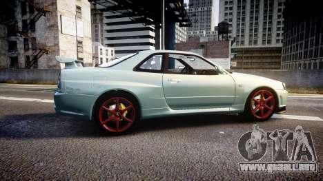Nissan Skyline R34 GT-R M-Spec Nur para GTA 4 left