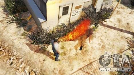GTA 5 Fuego-respiración segunda captura de pantalla