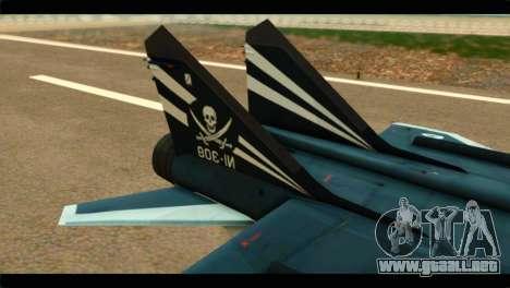 MIG-31 Pirat Squadron para GTA San Andreas vista posterior izquierda