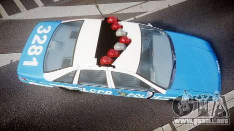 Chevrolet Caprice 1993 LCPD With Hubcabs [ELS] para GTA 4 visión correcta