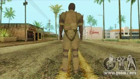 Metal Gear Solid 5: Ground Zeroes MSF v2 para GTA San Andreas segunda pantalla