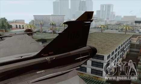 JAS-39 Gripen NG ACAH para GTA San Andreas vista posterior izquierda