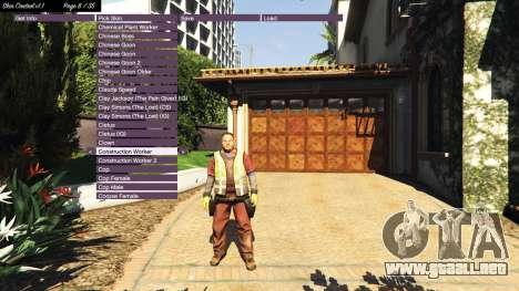 GTA 5 Skin Control v1.1 tercera captura de pantalla