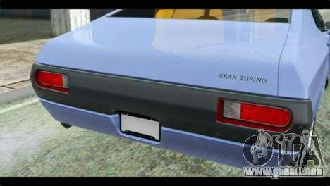 Ford Gran Torino para GTA San Andreas vista hacia atrás