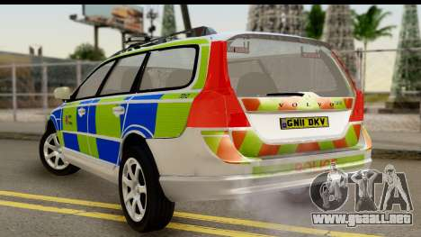 Volvo V70 Kent Police para GTA San Andreas left