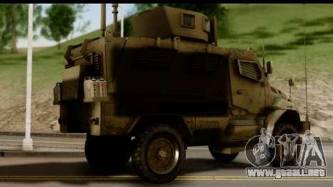 International MaxxPro MRAP para GTA San Andreas left
