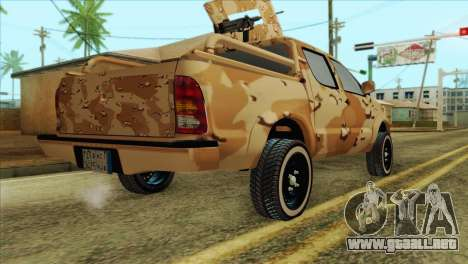 Toyota Hilux Siria Rebels without flag para GTA San Andreas left