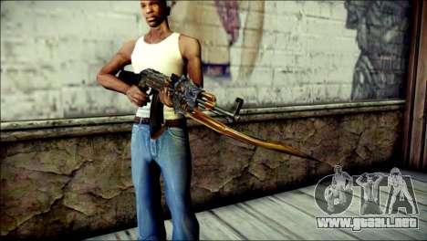 AK-47 Inferno para GTA San Andreas tercera pantalla