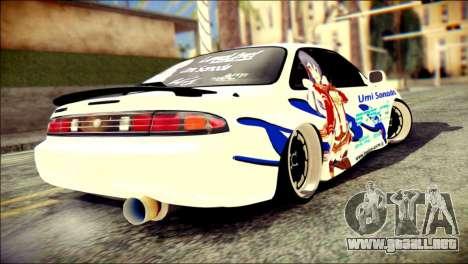 Nissan Silvia S14 Umi Sonoda Paintjob Itasha para GTA San Andreas left
