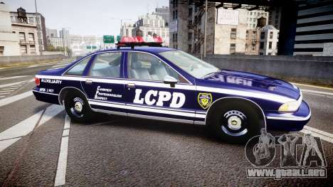 Chevrolet Caprice 1994 LCPD Auxiliary [ELS] para GTA 4 left