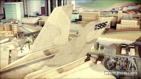 P-996 Lazer para GTA San Andreas vista posterior izquierda