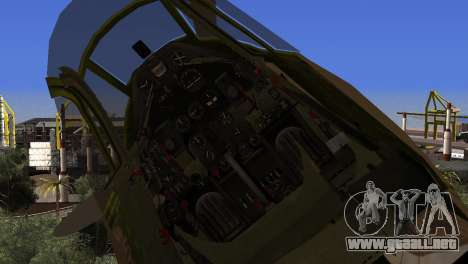 Pokryshkin P-39N Airacobra para la visión correcta GTA San Andreas