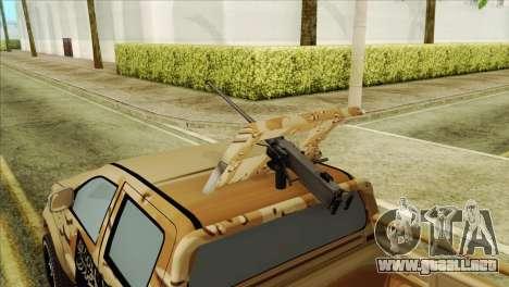Toyota Hilux Siria Rebels para la visión correcta GTA San Andreas