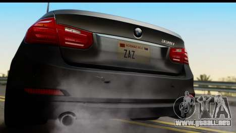 BMW 335i Coupe 2012 para la visión correcta GTA San Andreas