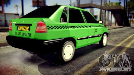 Kia Pride 141 Iranian Taxi para GTA San Andreas left