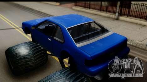 Monster Fortune para GTA San Andreas vista posterior izquierda