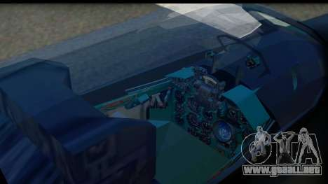 MIG-21F Fishbed B URSS Custom para GTA San Andreas vista hacia atrás