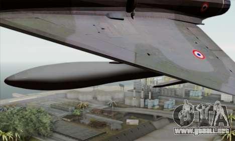 Dassault Mirage 2000-N SAM para la visión correcta GTA San Andreas