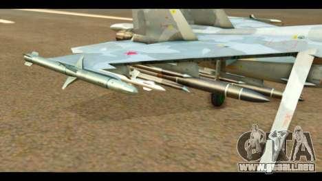 SU-37 Terminator Russian AF Camo para la visión correcta GTA San Andreas