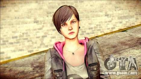 Moira Burton from Resident Evil para GTA San Andreas tercera pantalla