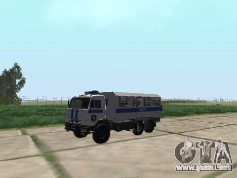 KamAZ-43114 un OMON para GTA San Andreas left