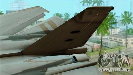 General Dynamics F-111 Aardvark para GTA San Andreas vista posterior izquierda